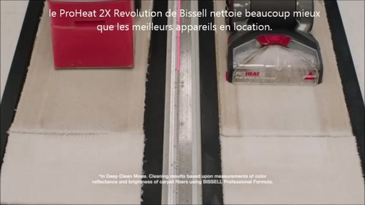 Shampouineuse Bissell Proheat 2x RevolutionMC, moquette et meubles   - image 3 from the video