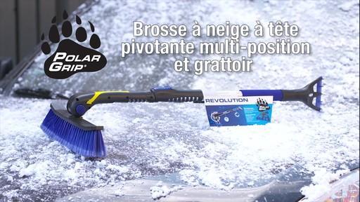 Balai à neige télescopique à tête pivotante, 3 positions - image 1 from the video
