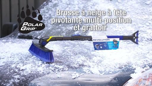 Balai à neige télescopique à tête pivotante, 3 positions - image 10 from the video