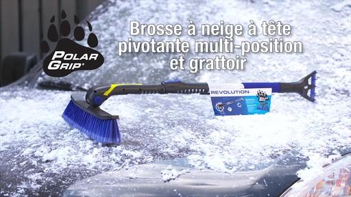 Balai à neige télescopique à tête pivotante, 3 positions - image 9 from the video