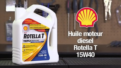 Huile moteur diesel Shell Rotella T 15W-40 - image 4 from the video