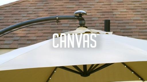 Parasol CANVAS Miramar déporté - image 1 from the video