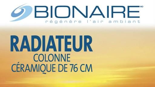 Radiateur céramique en colonne Bionaire, 30 po - image 1 from the video