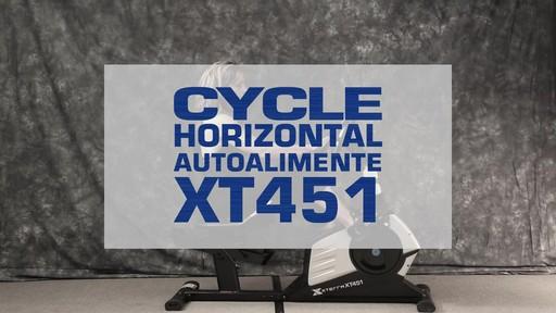 Vélo stationnaire incliné Xterra XT451SGR autoalimenté - image 1 from the video