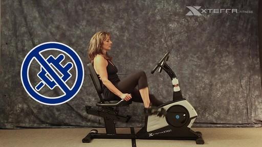 Vélo stationnaire incliné Xterra XT451SGR autoalimenté - image 3 from the video
