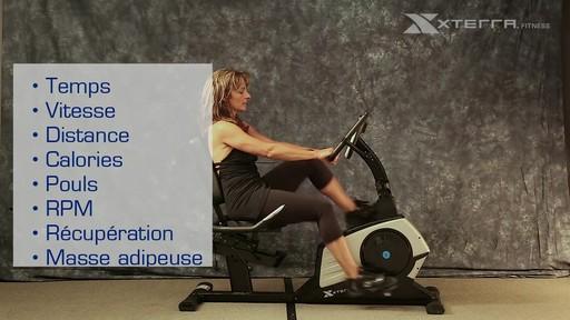 Vélo stationnaire incliné Xterra XT451SGR autoalimenté - image 7 from the video