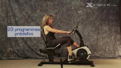 Vélo stationnaire incliné Xterra XT451SGR autoalimenté - image 8 from the video