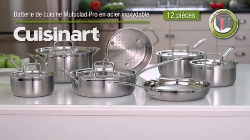 La batterie de cuisine de multiclad pro de cuisinart en - Batterie de cuisine en acier inoxydable ...