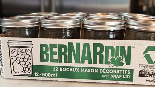 Bernardin bocaux mason décorative 500 ml grande ouverture - image 9 from the video