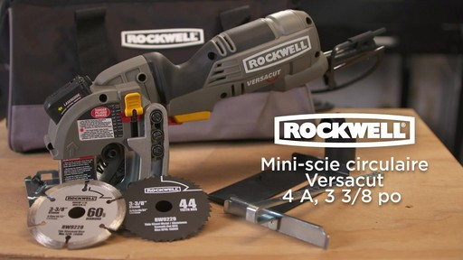 Mini-scie circulaire Rockwell Versacut, 4 A, 3 3/8 po - image 10 from the video