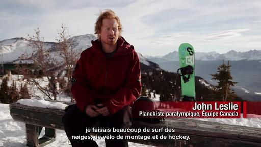 Le planchiste John Leslie raconte son aventure paralympique - image 3 from the video