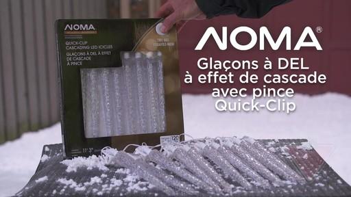Glaçons à DEL à effet de cascade avec pince Quick-Clip NOMA - image 1 from the video