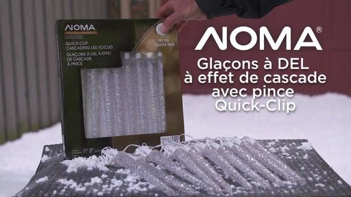 Glaçons à DEL à effet de cascade avec pince Quick-Clip NOMA - image 10 from the video