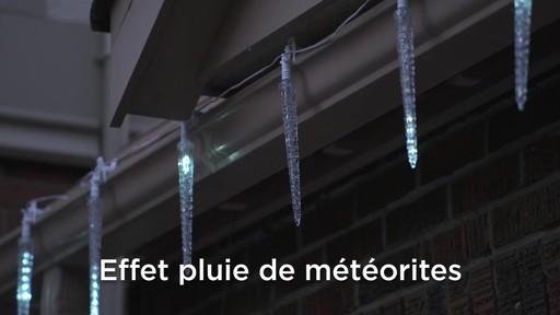 Glaçons à DEL à effet de cascade avec pince Quick-Clip NOMA - image 5 from the video