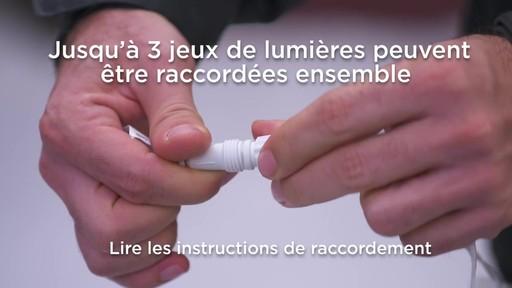 Glaçons à DEL à effet de cascade avec pince Quick-Clip NOMA - image 7 from the video