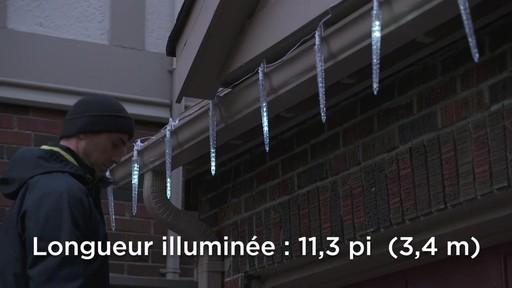 Glaçons à DEL à effet de cascade avec pince Quick-Clip NOMA - image 8 from the video