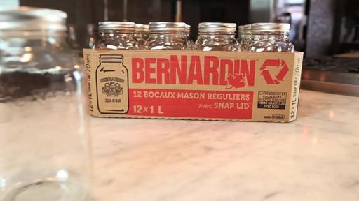 Bocaux mason réguliers BERNARDIN® 1 L - image 4 from the video