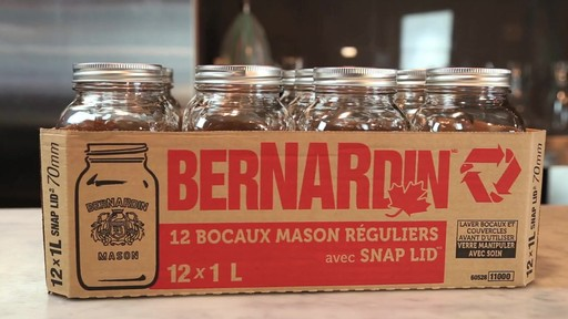 Bocaux mason réguliers BERNARDIN® 1 L - image 7 from the video