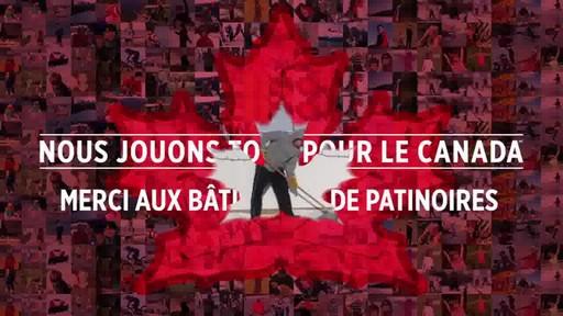 Montage – BÂTISSEURS DE PATINOIRES (Nous Jouons Tous Pour Le Canada) - image 1 from the video