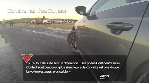 Pneu Continental TrueContactMC – Témoignages de clients - image 2 from the video