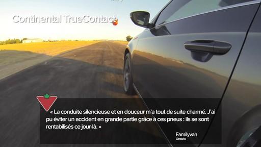 Pneu Continental TrueContactMC – Témoignages de clients - image 4 from the video