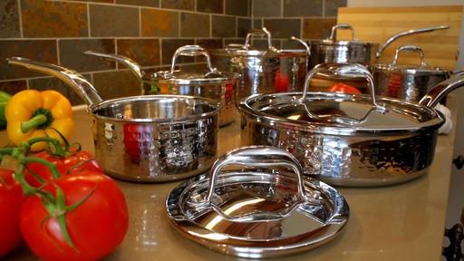 Batterie de cuisine martelée à main Lagostina, 12 pces - image 1 from the video