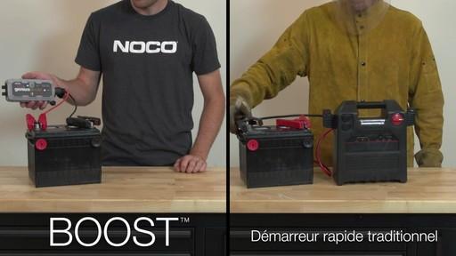 Boost vs Démarreur rapide traditionnel: Démarreur de batterie NOCO Genius GB30 Boost - image 7 from the video