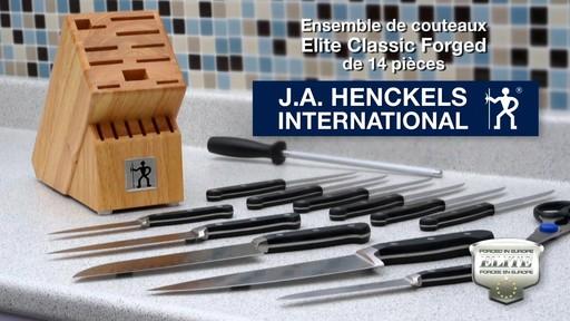 Couteaux forgés Henckels avec bloc, 14 pces - image 10 from the video