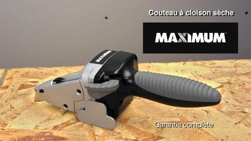 Couteau à cloison sèche MAXIMUM - image 10 from the video