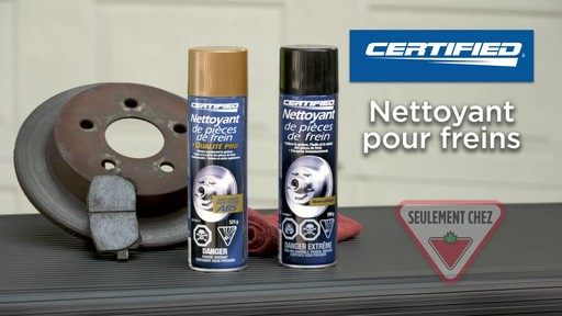Nettoyant de frein chloré Certified - image 10 from the video