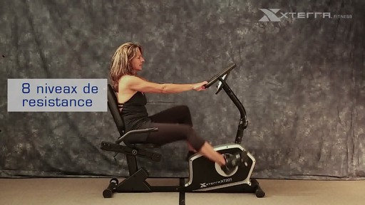 Vélo stationnaire incliné Xterra XT201R - image 4 from the video
