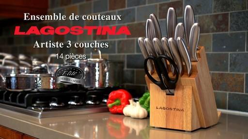 Couteaux martelés à la main Lagostina, 14 pces - image 10 from the video