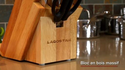 Couteaux martelés à la main Lagostina, 14 pces - image 8 from the video