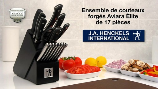 Couteaux en acier forgé Henckels Aviara, 17 pces - image 10 from the video