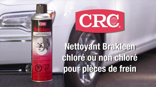 Nettoyant pour freins Brakleen CRC, sans chlore - image 1 from the video