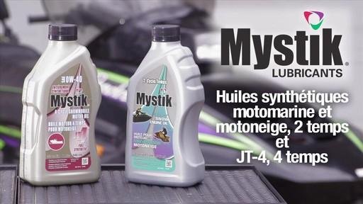 Les huiles Mystik 2 temps, motomarine et motoneige, et JT-4 4 temps - image 1 from the video