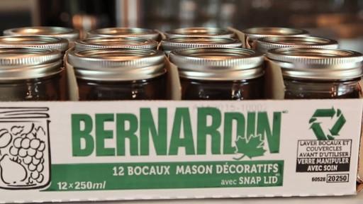 Bernardin bocaux mason décorative 250 ml - image 7 from the video