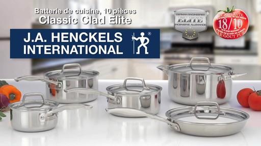 Batterie de cuisine revêtue Henckels, 10 pces - image 10 from the video