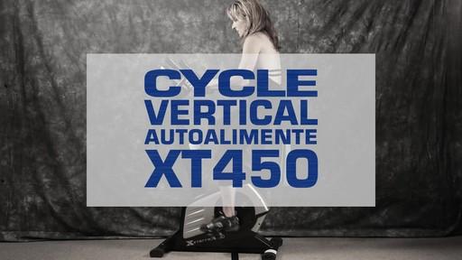 Vélo stationnaire vertical Xterra XT450SGU autoalimenté - image 1 from the video
