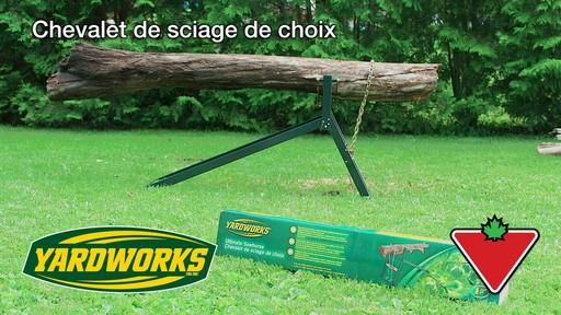 Chevalet de sciage yardworks fran ais canadian tire - Chevalet de sciage ...