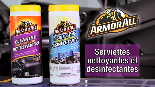 Serviettes nettoyantes et désinfectantes Armor All - image 10 from the video