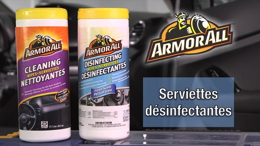 Serviettes nettoyantes et désinfectantes Armor All - image 5 from the video