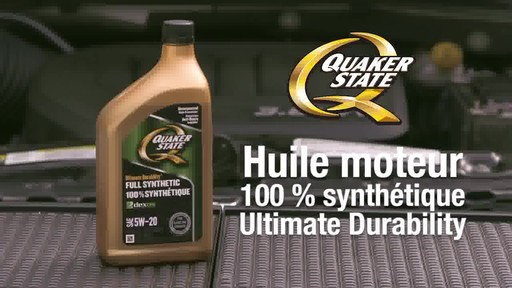 Huile moteur synthétique Quaker State Ultimate Durability - image 1 from the video
