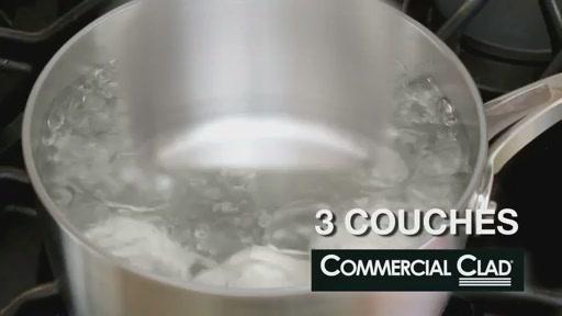 Batterie de cuisine en lamin� Lagostina, 3 couches, 13 pi�ces - image 4 from the video