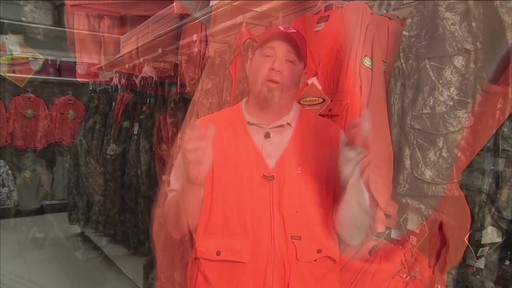 Gilet de chasse de luxe Yukon Gear, orange vif - image 7 from the video