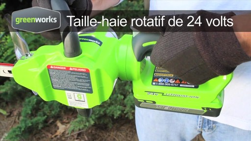 Taille-haie sans fil Greenworks, 24 V - image 1 from the video