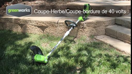 coupe herbe greenworks sans fil 40 v fran ais canadian tire. Black Bedroom Furniture Sets. Home Design Ideas