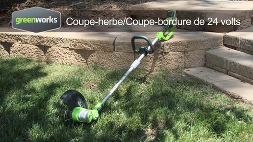 coupe herbe greenworks sans fil 24 v fran ais canadian tire. Black Bedroom Furniture Sets. Home Design Ideas