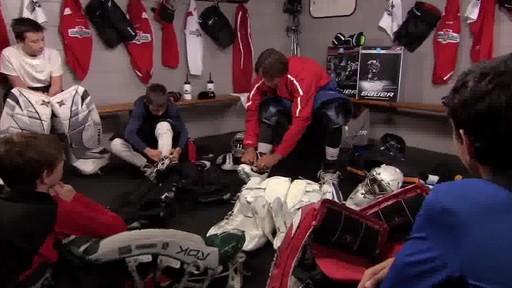 how to put on hockey equipment video