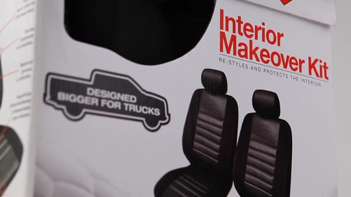 Masque Phantom Truck Black & Grey Seat Cover Set - image 1 from the video